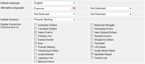 multi lingual and multi currency supported