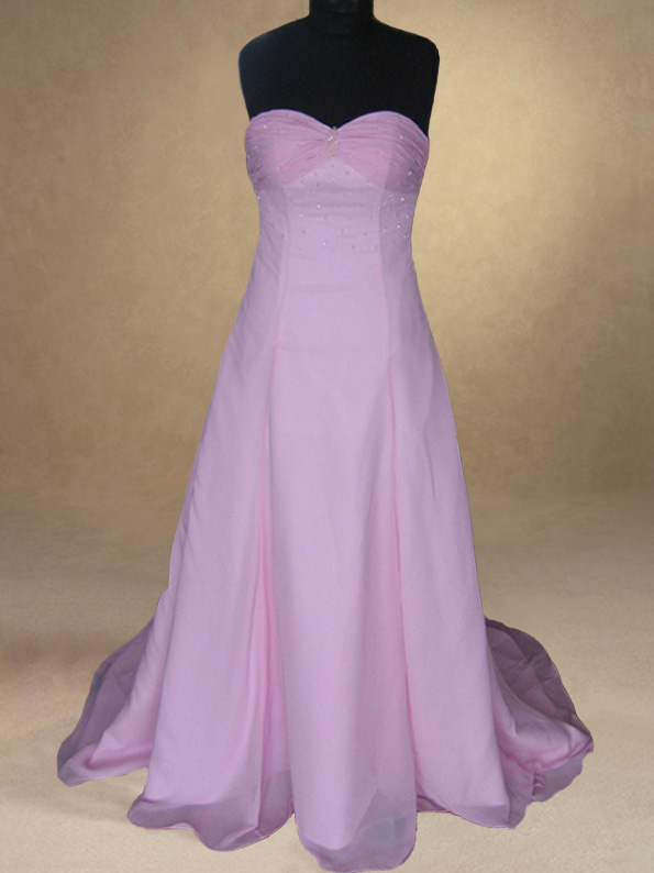 Bespoke Baby pink Evening/Wedding Dress