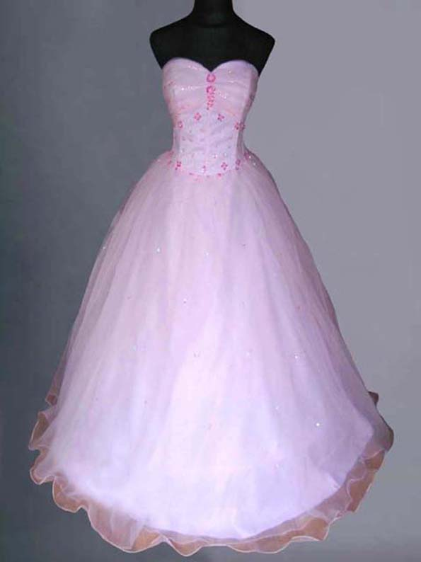 Baby Pink Wedding/Evening Ball Gown Dress