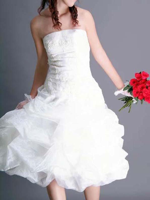 Bespoke Ivory Bridal Wedding Dress Cocktail