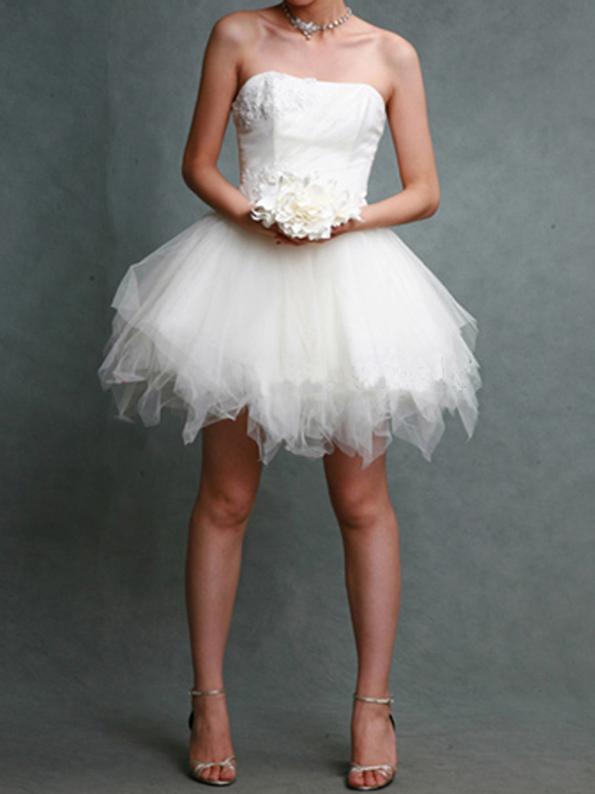 Bespoke Ivory/White Bridal Wedding Dress Cocktail