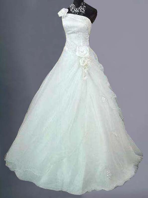 White/Ivory Wedding Ball Gown Dress