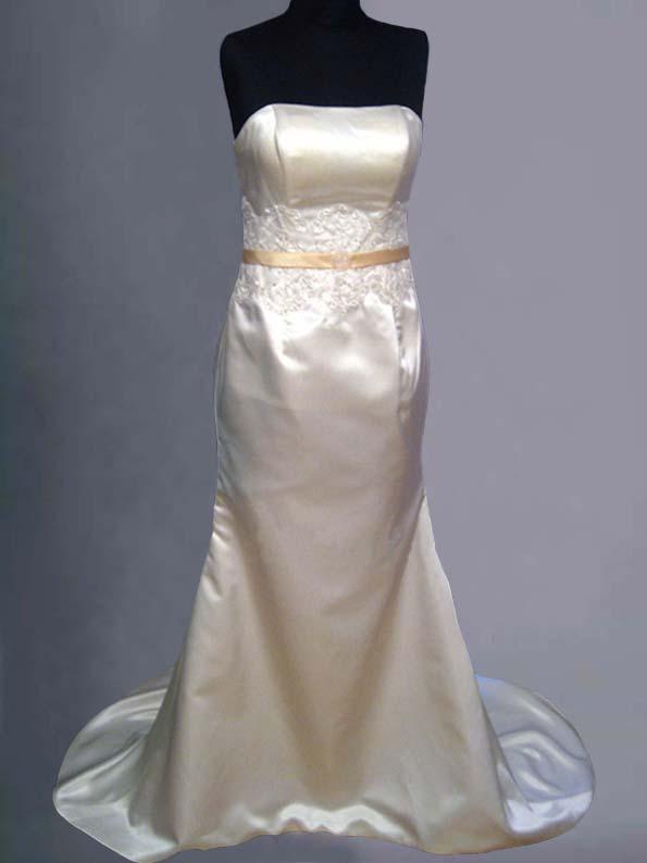 Bespoke Ivory Bridal Wedding Dress Fishtail/Merm...